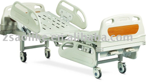 CE,FDA certificated 2 crank deluxe manual hospital bed