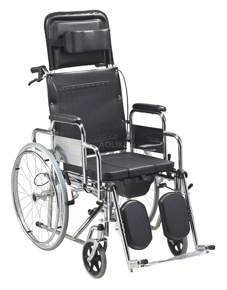 Deluxe Steel Manual commode wheelchairs for sale ALK601GC-46