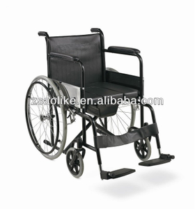 Cheap price folding commode wheelchair ALK608